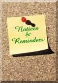 Notices and Reminders