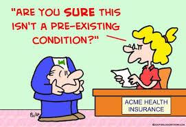 Pre-existing condition cartoon