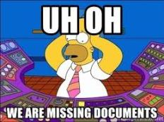 Missing documents